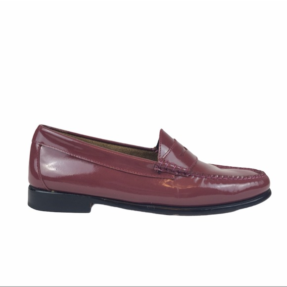 Weejuns Burgundy Patent Whitney Penny Loafers